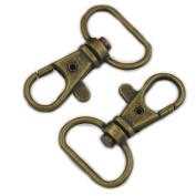 Fujiyuan 15 pcs Swivel Lobster Clasps 1.6cm Metal Findings Clips Bags Snap lanyard Bronze
