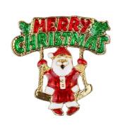 Cosanter Brooch Santa Brooch Christmas Gift Unisex