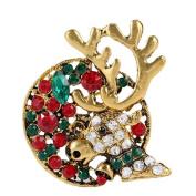 Cosanter Brooch Christmas Series Creative Christmas Deer Brooch