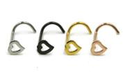 Zhichengbosi 4pcs J-Shaped Nose Screw Ring