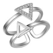 Skyeye 1x Open Glod Ring Diamond Ring Double Adjustable Wedding Jewellery Crystals for Women Ladies