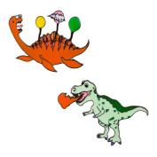 Cartoon Dinosaur Enamel Brooch Pin Badges Lapel Pins for Clothing Decor Animal Alloy Brooch Pin Set