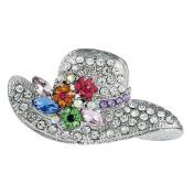 Lumanuby 1 Pcs Christmas Gift Brooch Elegant Fashion Brooch Pin Hat Cap Design For Wedding Alloy Shawl Clip Lover Gift Silver