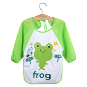 Profusion Circle Cute Cartoon Bibs Waterproof Long Sleeve Feeding Smock Apron for Kids Baby Toddler