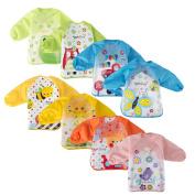 Big Elephant Unisex Baby Waterproof Long Sleeved Bibs with Sleeves Apron Smock P90A