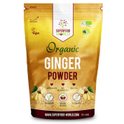 Organic Ginger Powder   Powerful Anti Inflammatory & Antioxidant Ginger Root Powder   Supports Healthy Digestion & Blood Sugar   Perfect for Tea, Smoothies & Savoury Dishes