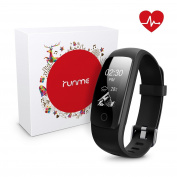 Runme Fitness Tracker with Heart Rate Monitor - Smart Bracelet with Sleep Monitor Bluetooth Activity Tracker with Pedometer IP67 Water Resistant Smart Watch with Call/SMS Remind for iOS Android Smartphone