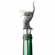 Upside Down Kitty Cat Wine Bottle Stopper Decorative Novelty Barware Tool by Wild Eye Designs