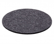 Coaster Coaster Wool Felt 5 mm anthracite, felt, charcoal, Ø 10 cm