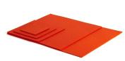 Coaster Set Glass Coasters Tablemat Colour Mango Dark Orange 100% Merino Wool Felt 3 mm 15 x 15 cm orange