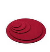 100% Merino Wool Felt Coaster Round Diameter 10 cm Glass Base Colour Bordeaux Red 5 mm