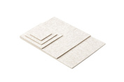 Coaster Coaster Table Place Mat Set Including Round/Rectangular/Square Colour White 100% Pure Merino Wool Felt 5 mm 10 x 10 cm weiß meliert