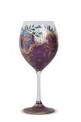 Zees Inc Pocket Bottles Hp5004 Handpainted Wine Glasses, Purple