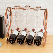SUBBYE Wine Rack European Style Wine Rack Wine Glass Display Stand Goblet Holder Red Wine Cup Holder Upside Down Wine Bottle Shelf