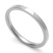 2MM Comfort Fit Stainless Steel Wedding Band Classic Flat Ring