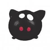Splat Balls Squishy Squeeze Sticky Stress Relief Mesh BLACK PIG