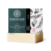 Ecrin De Fleur Certified Organic Cedar Soap – Calming Cedar Wood Infused With Patchouli Soap - The Non Toxic, SLS & Chemical Free Soap Bar That Softens The Skin And Earths the Senses