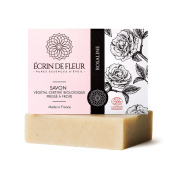 Ecrin De Fleur Certified Organic Rose Soap – Damask Rose Scented Soap - The Non Toxic, SLS & Chemical Free Rose Oil Soap Bar That Softens The Skin And Romances the Senses