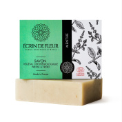 Ecrin De Fleur Certified Organic Mint Soap – Invigorating Spearmint and Peppermint Soap Infused with Orange Oil - The Non Toxic, SLS & Chemical Free Soap Bar That Stimulates the Senses.