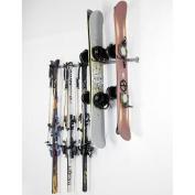 Monkey Bar Storage 3 Ski and 4 Snowboard Wall Mounted Rack