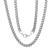 Steeltime Men's Stainless Steel Box Chain Necklace