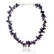 Women's Purple Amethyst Tumble Chip Necklace
