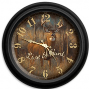 Reflective Art Live to Hunt 41cm Classic Wall Clock