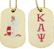 Kappa Alpha Psi Double Sided Dog Tag [Gold]