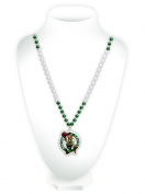 Boston Celtics Mardi Gras Beads with Medallion