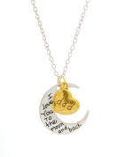 I Love You to the Moon and Back Dad Necklace I Love You Dad Jewellery, MOOM-DAD