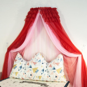 LNPP Round Lace Curtain Dome Bed Canopy Netting Princess Mosquito Net Bed Mantle Home Decoraction , C , 1.8m bed