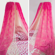 LNPP Mosquito Net Bed Canopy Yarn Play Tent Bedding for Kids Round Lace Dome Netting Curtains , A , 1.8m bed