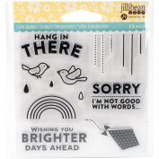 Jillibean Soup Clear Stamps 10cm x 10cm -Hang N There