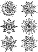 Tim Holtz Cling Stamps 18cm x 22cm -Swirly Snowflakes