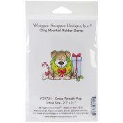 Whipper Snapper Cling Stamp 10cm x 15cm -Christams Wreath Pup