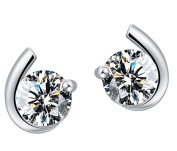 Creative Women's Earrings 925 Sterling Silver Stud Earrings Cubic Zirconia Stud Earrings