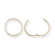 Ophir 9ct Yellow SOLID Gold, Hinged Sleeper Hoop Wires 1mm Width 12mm 14mm 16mm
