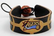 Gamewear NBA Leather Wrist Band - 76ers Team Colour