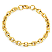HMY jewellery 18k Goldplated Circle Chain Bracelet