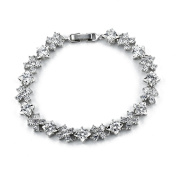 "MUUII ""Infinity Stars"" Silver Tennis Bracelet for Women with Cubic Zirconia ® crystals"