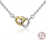 BAMOER 925 Sterling Silver United in Love Silver & Small Chain Necklace & Pendant For Women Sterling-Silver-Jewellery PSN011