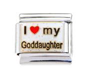 GODDAUGHTER GOD DAUGHTER RELIGION Enamel Italian Charm 9mm - 1 x RE097 Single Bracelet Link