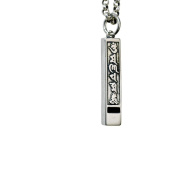 925 Silver Vintage Necklace for Men and Women, Creative Whistle Pendant with Six characters