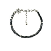 Final with Silver Hematite And Washers and Rudder Men's Bracelet in 925 silver