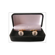 Cufflinks International Enamel with Presentation Box – Cross of Camargue