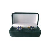 Blue Enamelled Masonic Cufflinks with Gift Box – Forget-Me-Not with Pentagram
