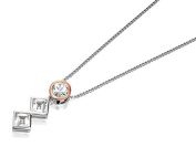 Clogau Silver Welsh Royalty Anniversary White Topaz Necklace Chain Pendant Lady