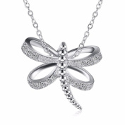 IzuBizu London Dragonfly Diamond Pendant 925 Stirling Silver Animal Crystal Necklace - Free Gift Box