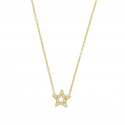 jouailla – Gold Plated Star With Cubic Zirconia Necklace