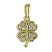 Four Leaf Clover Pendant Cubic Zirconia from 333 gold